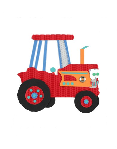 Rachael O'Neill Illustration - rachael, rachel, o'neill, rachael o'neill, rachel o'neill, young, novelty, picture book, picturebook, sweet, commercial, tractor, collage