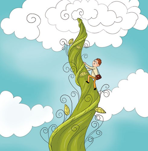 Ana Garcia Illustration - ana, garcia, ana garcia, commercial, educational, mass market, novelty, board books, activity, puzzle, board games, digital, photoshop, illustrator, people, jack, beanstalk, stories, tales, clouds, sky, story boy, young