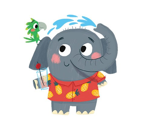 Ana Gomez Illustration - ana, gomez, ana gomez, picture books, children's books, comics, cartoons, colourful, bright, greetings cards, stationary, postcards, digital, photoshop, illustrator, elephant, animal, cute, sweet, colour
