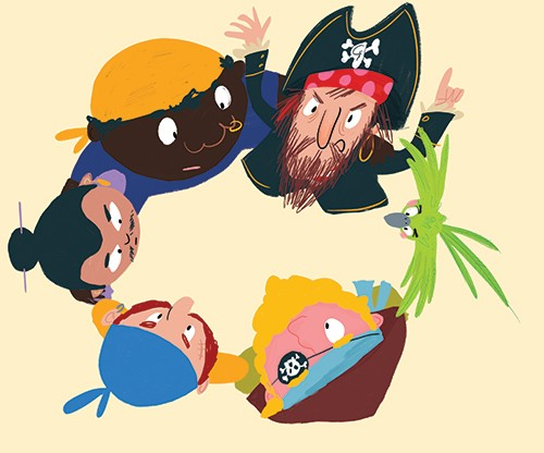 Ana Gomez Illustration - ana, gomez, ana gomez, picture books, children's books, comics, cartoons, colourful, bright, illustrator, pirates, parrot, pet, gang, hat, captain,