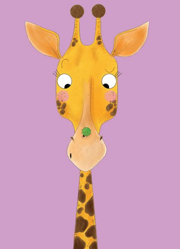 Ashley King Illustration - ashley, king, ashley king, illustrator, fiction, picture book, mass market, young reader, YA, traditional, pen, animal, giraffe, colour, colourful, ladybird, insect