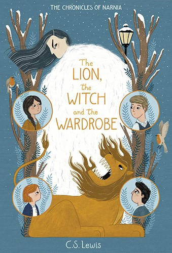 Alona Millgram Illustration - alona millgram, illustrator, digital, painted, traditional, colour, colourful, texture, cover, book, classic, the lion the witch and the wardrobe, children, boys, girls, witch, lion, snow, winter, trees, narnia, trees, nature, robins, birds, christmas, fe