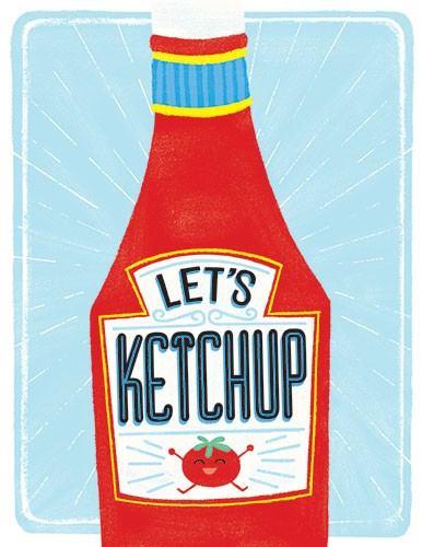 Angela Navarra Illustration - angela, navarra, angela navarra, commercial, educational, editorial, advertising, greetings cards, licensing, design, graphic, stationary, digital, photoshop, textured, illustrator, label, ketchup, food, tomato,