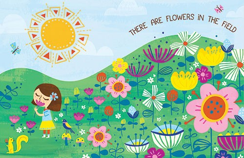 Angela Navarra Illustration - angela, navarra, angela navarra, commercial, educational, editorial, advertising, greetings cards, licensing, design, graphic, stationary, digital, photoshop, textured, illustrator, girl, flowers, detail, sun, day, nature, field, garden, cute, sweet, youn
