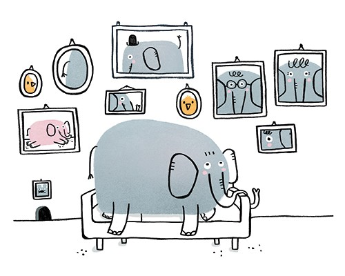Anna Suessbauer Illustration - anna, süßbauer, anna süßbauer, illustration, digital, photoshop, illustrator, picture book, quirky, YA, young reader, elephants, humour, funny, black line, spot colour