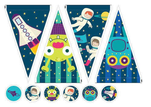 Brenda Figueroa Illustration - brenda, brenda figuera, commercial, digital, young readers, YA, picture books, packaging, cutouts, template, aliens, space, stars, astronaut, child, children, planets, aliens, rocket, pattern