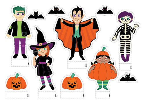 Brenda Figueroa Illustration - brenda, brenda figueroa, commercial, mass market, sweet, young readers, picture books, stickers, digital, photoshop, illustrator, coloured, fiction, character, halloween, dracula, vampire, scary, witch, skeleton, bats, pumpkin