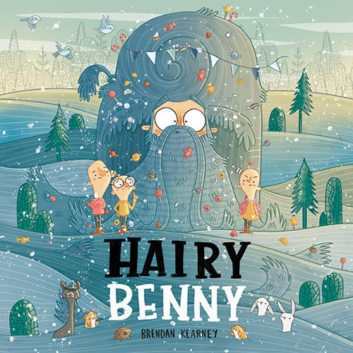 Brendan Kearney Illustration - brendan, kearney, brendan kearney, illustration, colourful, digital, photoshop, hand-drawn, colour, mass market, fiction, picture book, cover, hairy benny, man, hairy, hair, hills, people, funny, silly, characters, bald, animals, deer, hedgehog, rabbits