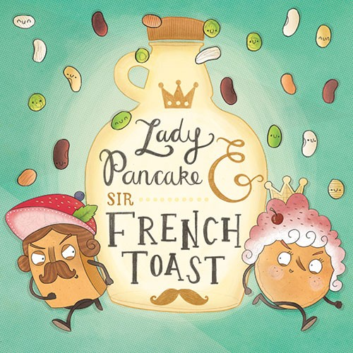 Brendan Kearney Illustration - brendan kearney, brendan, kearney, digital, commercial, fiction, activity, picture book, educational, detailed, lady, sir, desserts, puddings, food, french toast, pancake, humour, funny, young,