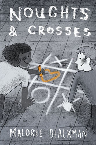 Brittany E. Lakin Illustration - brittany, e., lakin, brittany e. lakin, illustration, pencil, drawing, photoshop, colour, colourful, commerical, mass market, book, cover, noughts and crosses, children, boy, girl, love, chalk, game, drawing, heart, classic