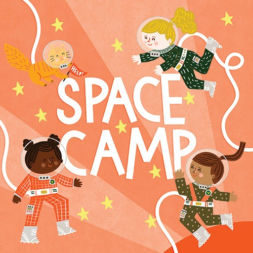 Becky Paige Illustration - becky paige, illustrator, digital, photoshop, colour, colourful, texture, vector, non-fiction, educational, characters, boys, girls, children, book, cover, astronauts, space, science, nasa, stars, fantasy, adventure, spacesuits, space camp, cat, cute, swe