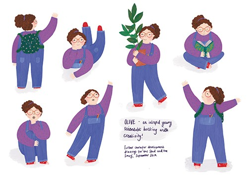 Christine Cuddihy Illustration - christine, cuddihy, christine cuddihy, illustrator, handdrawn, pencil, watercolour, digital, photoshop, traditional, line, line work, paint, colour, colourful, girl, character, person, child, plant, leaves, dancing, reading, book, activities, emotions