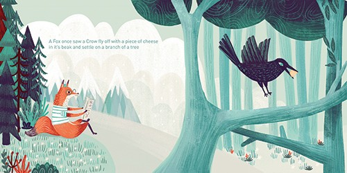 Ciara Ni Dhuinn Illustration - ciara ni dhuinn, illustrator, illustration, artist, handdrawn, photoshop, picturebook, trade, YA, young reader, quirky, clouds, trees, bird, fox, forest, flowers, pattern. colourful