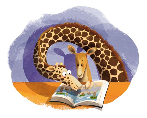 Claudia Ranucci Illustration - claudia ranucci, claudia, ranucci, picture book, commercial, novelty, fiction, young, mass market, trade, digital, photoshop, illustrator, animals, giraffes, adult, parents, educational, learning, reading, jungles, child, kids, children, mums, mothers, mo