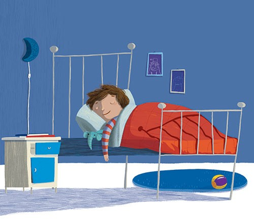 Claudia Ranucci Illustration - laudia ranucci, claudia, ranucci, picture book, commercial, young, mass market, trade, digital, photoshop, illustrator, child, boy, sleep, dark, night, quiet, bed, bedtime, dreams
