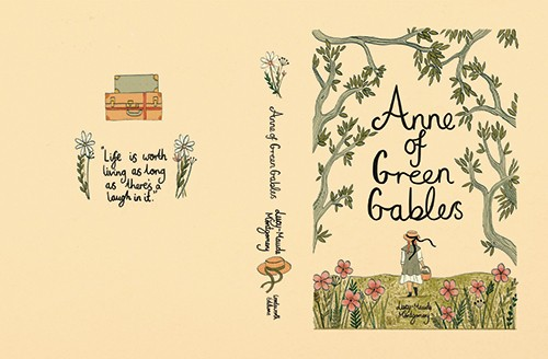 Claire Shorrock Illustration - claire, shorrock, claire shorrock, picture book, licensing, trade, painted, traditional, classics, story, tale, book, cover, book cover, anne of green gables, girl, figure, person, flowers, plants, trees, suitcase, hat, ribbon, walking, field