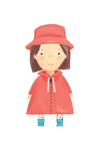 Claire Shorrock Illustration - cute, sweet, claire,shorrock, claire shorrock, illustrator, illustration, photoshop, digital, paint, painterly, pencil, pencil crayon, fiction, YA, young reader, picture book, colourful, colour, girl , figure, child, cute, sweet, coat, hat, pattern