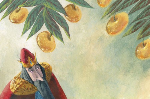 Claudia Venturini Illustration - claudia, venturini, claudia venturini, paint, painted, acrylic, digital, photoshop, Educational, Fiction, picture book, man, king, fruit, people