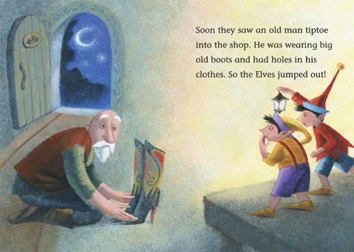 Claudia Venturini Illustration - claudia, venturini, claudia venturini, paint, painted, acrylic, digital, photoshop, Educational, Fiction, picture book, elves, shoes, man, old man, men