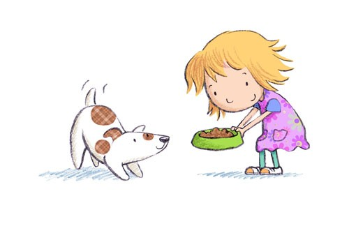 Debbie Tarbett Illustration - debbie, tarbett, debbie, tarbett, digital, colour, photoshop, illustrator, mass market, educational, novelty, young, commercial, picture book, board book, sweet, animals, dogs, puppy, pets, puppies, child, kids, children, girls, females, happy, friends, c