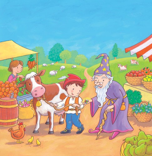 Debbie Tarbett Illustration - debbie, tarbett, debbie, tarbett, digital, colour, photoshop, illustrator, mass market, educational, novelty, young, commercial, picture book, board book, sweet, figures, cow, animal, market, fruit, vegetables, chicken, chick, trees, sheep, grass
