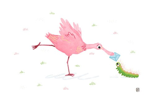 Esther van den Berg Illustration - esther van den berg, esther, van den berg, painted, digital, commercial, advertising, advertisements, posters, editorial, magazines, mass market, trade, photoshop, illustrator, animals, flamingo, caterpillar, painterly, painted, paint, colour, colourful,