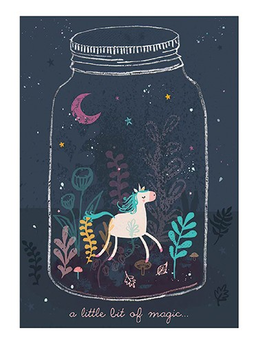 Emma Haines Illustration - emma haines, emma, haines, illustrator, artist, bright, colourful, digital, photshop, hand drawn, colour, funny, cute, sweet, unicorn, animals, jar, moon, plants, stars, night, magic, mushroom, toadstools,