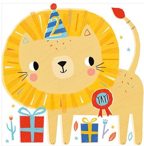 Emma Haines Illustration - emma haines, emma, haines, illustrator, artist, bright, colourful, digital, photshop, hand drawn, colour, funny, cute, sweet, animals, lion, birthday, party, hat, party hat, gifts, presents, badge, ribbon, badge