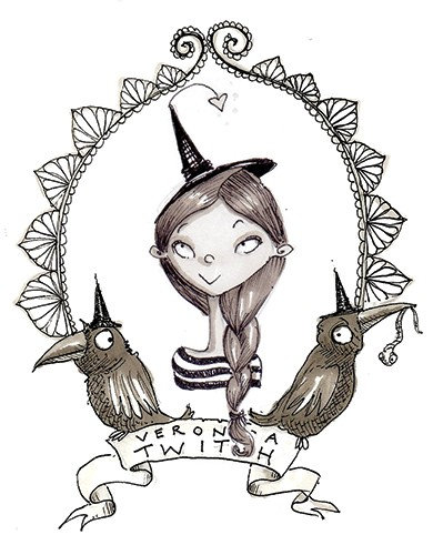 Erica Jane Waters Illustration - erica jane waters, fiction, commercial, line, black line, pencil, fiction, children, girls, tween, person, figures, woman, witch, magic, school, spells, magical, girl