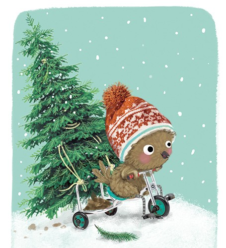 Eefje Kuijl Illustration - eefje, kuijl, eefji kuijl, commercial, educational, fiction, snow, snowing, mass market, greetings cards, young reader, YA, digital, colour, winter, colourful, photoshop, young, cute, sweet, bear, animal, hat, pattern, texture, tree, christmas,festive, ho