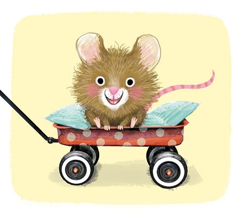 Eefje Kuijl Illustration - efje, kuijl, eefji kuijl, commercial, educational, fiction, mass market, YA, young reader, cute, sweet, animal, mouse, colour, colourful, digital, happy, transport