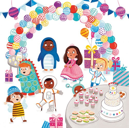 Emma Randall Illustration - emma, randall, emma randall, commercial, trade, sweet, young, picture book, paint, digital, photoshop, illustrator, fiction, girls, boys, characters, children, home, dressing up, fancy dress, play, party, dinosaur, astronaut, aliens, doctor, bee, princess