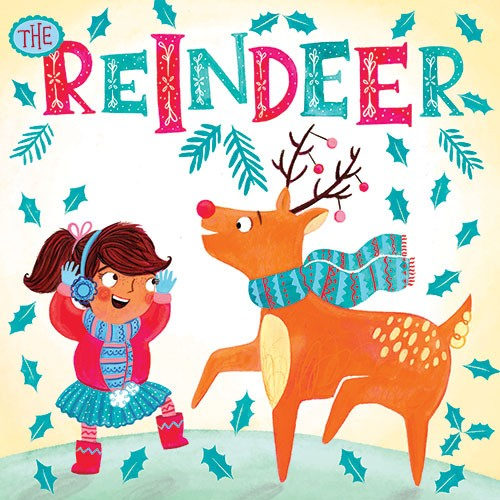 Emma Randall Illustration - emma, randall, emma randall, commercial, trade, editorial, girly, cute, sweet, young, fiction, picture book, greetings cards, paint, painting, digital, photoshop, illustrator, people, children, animals, reindeer, christmas, winter, autumn, leaves, girls