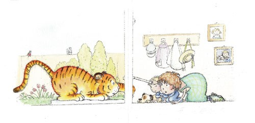 Heather Dickinson Illustration - heather, dickinson, heather dickinson, traditional, paint, painted, painting, watercolour, pencil, commercial, picture book, fiction, educational, people, children, boys, girls, animals, tigers, dogs