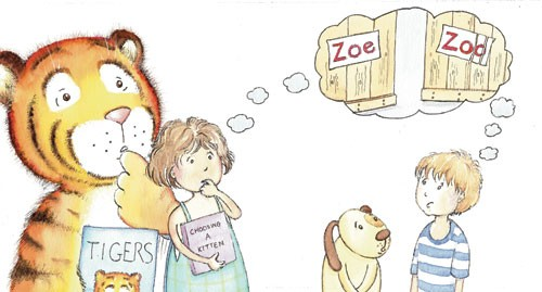 Heather Dickinson Illustration - heather, dickinson, heather dickinson, traditional, paint, painted, painting, watercolour, pencil, commercial, picture book, fiction, educational, children, people, boys, girls, animals, tigers, dogs