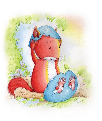 Heather Dickinson Illustration - heather, dickinson, heather dickinson, traditional, paint, painted, painting, watercolour, pencil, commercial, picture book, fiction, educational, animal, squirrel, moon