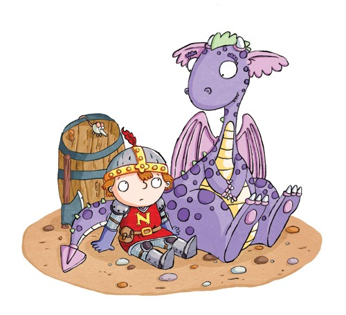Ian Smith Illustration - ian smith, digital, commercial, sweet, young, picture book, picture book, fiction, educational, animals, monsters, dragons, creatures, dinosaurs, fairytales, people, children, boys, knights