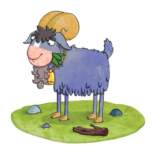 Ian Smith Illustration - ian smith, digital, commercial, sweet, young, picture book, picture book, fiction, educational, animals, rams, sheep, goats, billy goats gruff