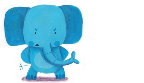 Judi Abbot Illustration - judi, abbot,  judi abbot, acrylic, paint, painted, traditional, commercial, picture book, picturebook, sweet, cute, animals, elephants, angry, trunk, tail