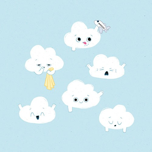Jo Lindley Illustration - jo, lindley, jo lindley, illustration, picture book, YA, young reader, trade, character, colourful, illustrator, photoshop, clouds, characters, cute, baby, babies, playing, toys, plane, sleep, blanket, emotions, happy, sad, tongue, raspberry, nature, sky,