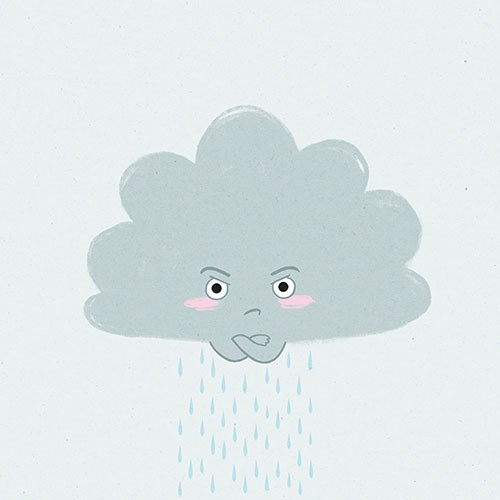 Jo Lindley Illustration - jo, lindley, jo lindley, illustration, picture book, YA, young reader, trade, character, colourful, illustrator, photoshop, clouds, characters, cute, thunder, grumpy, angry, grey, rain, nature, sky