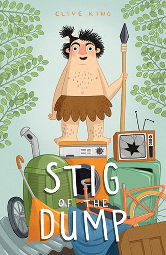 Jo Lindley Illustration - jo, lindley, jo lindley, illustration, picture book, YA, young reader, trade, character, colourful, illustrator, photoshop, caveman, classic, stig of the dump, tales, story, junk, junkyard, television, tv, leaves, dump, bicycle, boiler, man, person, figur