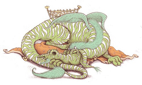 Jennifer Miles Illustration - jennifer, miles, jennifer miles, watercolour, traditional, painted, educational, picture book, commercial, fantasy, dragon, throne, grumpy,