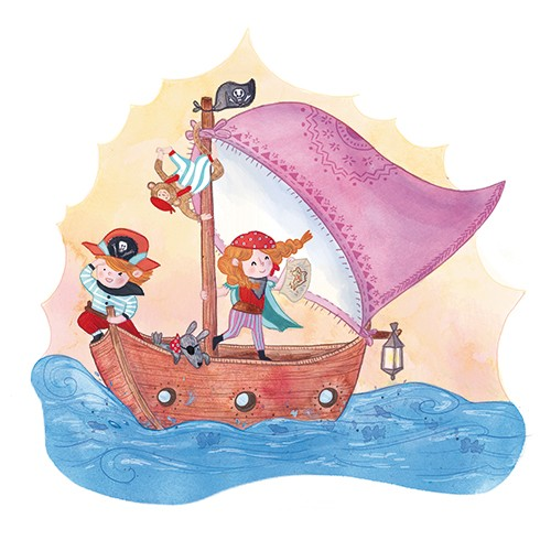 Jessica Martinello Illustration - jessica, martinello, jessica martinello, illustration, hand drawn, painted, digital, novelty, picture book, commercial, educational, sweet, young, fiction, trade, YA, adventure, fantasy, pirates, sea, ocean, boat, ship, sails, boy, girl, children, figures