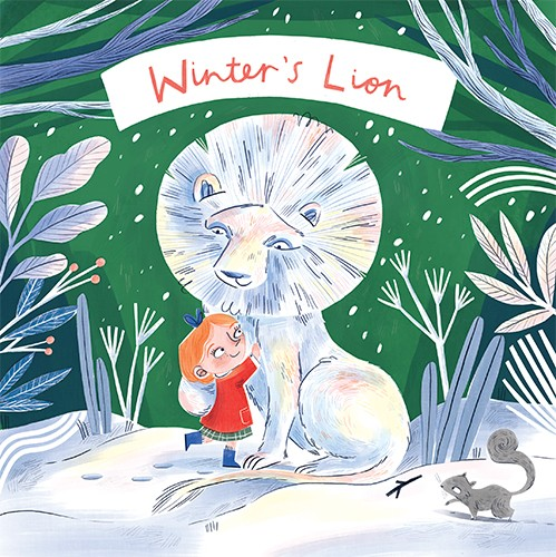 Jess Rose Illustration - jessica rose, digital, colour, colourful, drawing, traditional, pencil, picture book, fiction, book, cover, story, adventure, lion, winter, cold, snow, season, characters, friends, girl, hug, cuddle, sweet, nature