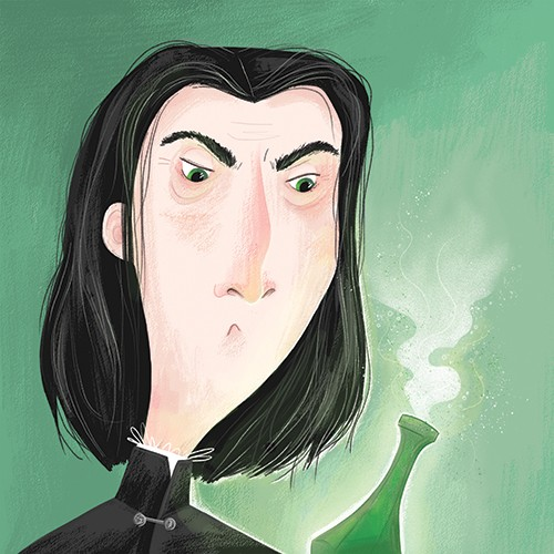 Jessica Rose Illustration - jessica, rose, jessica rose, illustrator, illustration, digital, photoshop, trade, sketch, man, teacher, potions, severus snape, harry potter, fiction, fan, character, people, figures