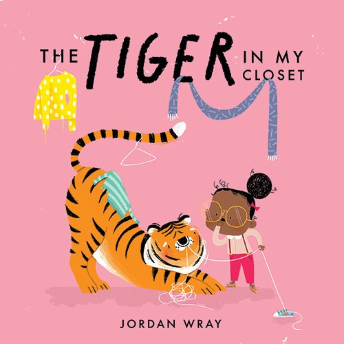 Jordan Wray Illustration - Jordan, Wray, Jordan Wray, illustration, pencil, drawing, photoshop, colour, colourful, commerical, mass market, fiction, cute, sweet, tiger, girl, child, friends, closet, shoelaces, coat, scarf, coat hanger, funny, story, tale, cover, book