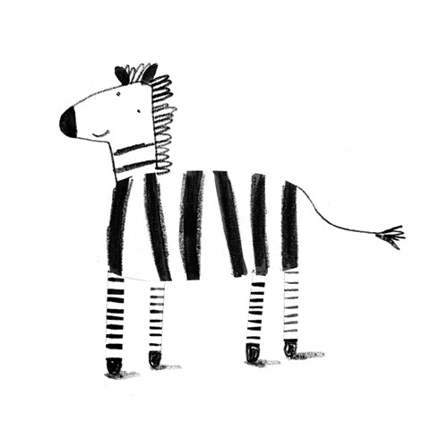 Kate Chappell Illustration - kate, chappell, kate chappell, trade, commercial, fiction, editorial, picture book, hand drawn, gouache, pencil, crayon, digital, photoshop, zebra, animal, stripes