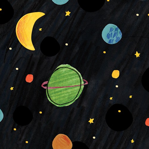 Kate Chappell Illustration - kate, chappell, kate chappell, trade, commercial, fiction, editorial, picture book, hand drawn, gouache, pencil, crayon, digital, photoshop, space, planets, stars