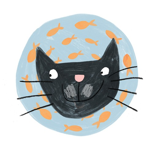 Kate Chappell Illustration - kate, chappell, kate chappell, trade, commercial, fiction, editorial, picture book, hand drawn, gouache, pencil, crayon, digital, photoshop, cat, fish, animal, pet